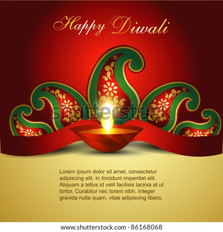 stock vector : Artistic Indian diwali festival vector art