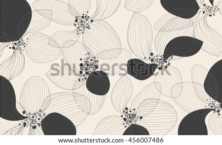 artistic lotus flower petals on