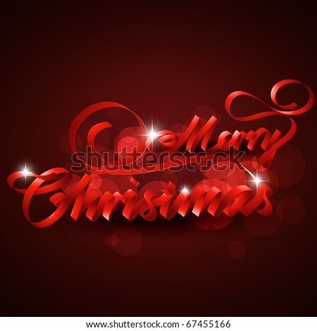 artistic merry christmas text design