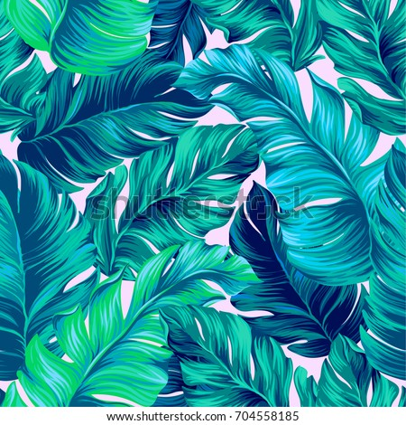 artistic palms pattern with
