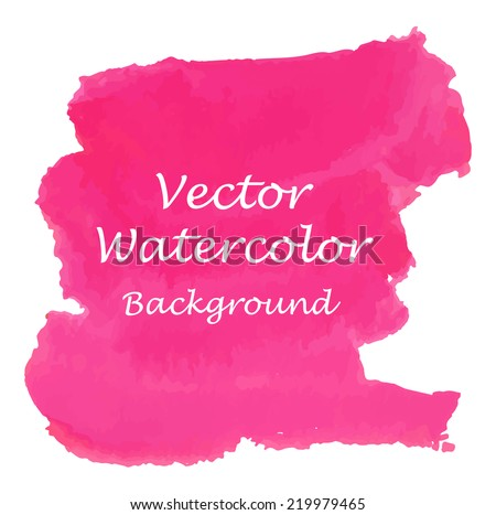 Artistic pink vector watercolour background. Vector illustration.