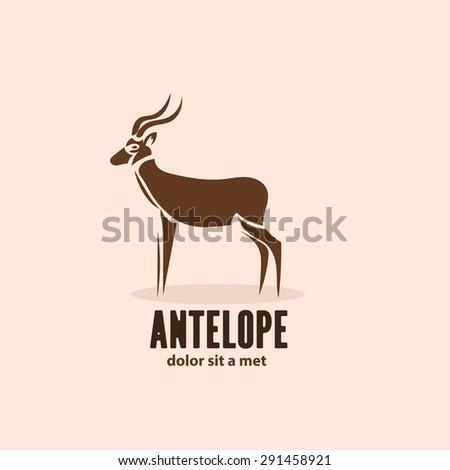 artistic stylized antelope icon