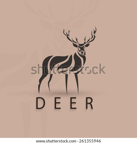 artistic stylized deer shape