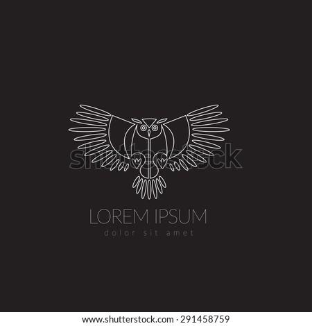 artistic stylized owl icon