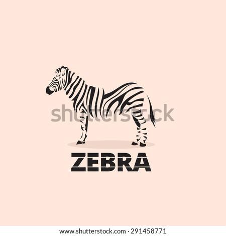artistic stylized zebra icon