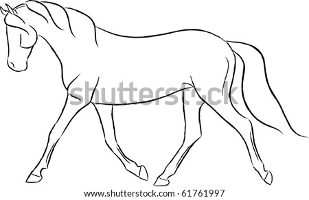 Artists That Draw Horses Artistic Trotting Horse Vector