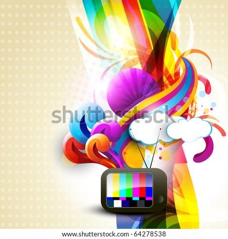 artistic vector tv design illustration