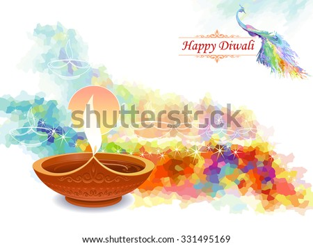 Diwali greeting background download free vector art stock artistic water colored diwali greeting m4hsunfo