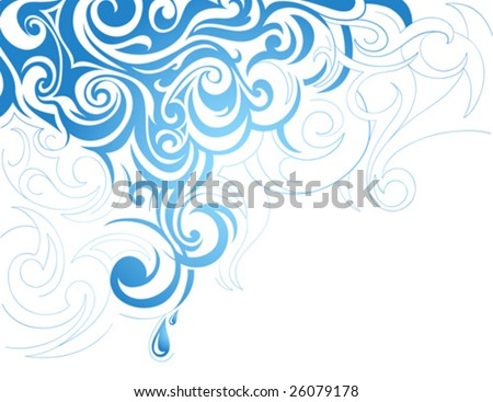 Clip Art Artistic. stock vector : Artistic water