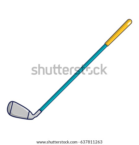 artoon illustration of golf club vector icon for web