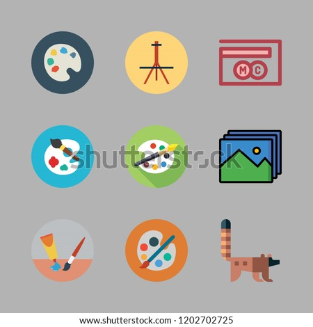 artwork icon set vector set
