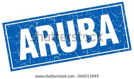 aruba blue square grunge...