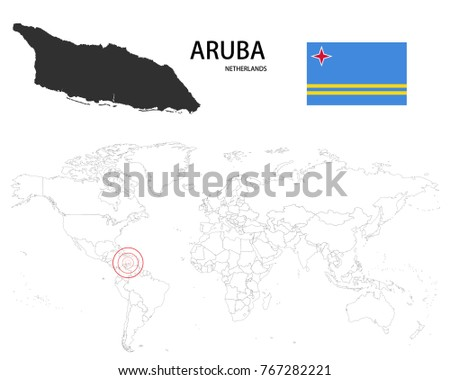 Free Vector Netherlands Flag Map Pointer Download Free Vector - Aruba map vector