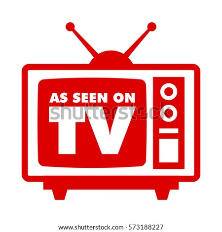 As seen on tv with retro television icon
