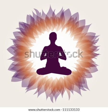 Asana Yoga Posture Vector Illustration - eps10