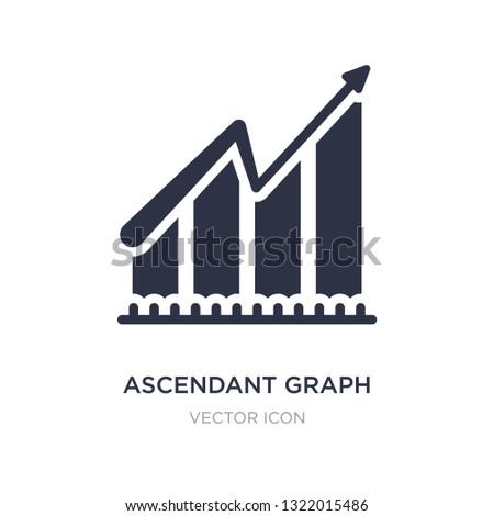 ascendant graph icon on white background. Simple element illustration from Business concept. ascendant graph sign icon symbol design.