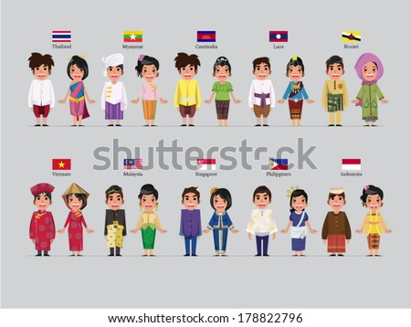 asean boys and girls in