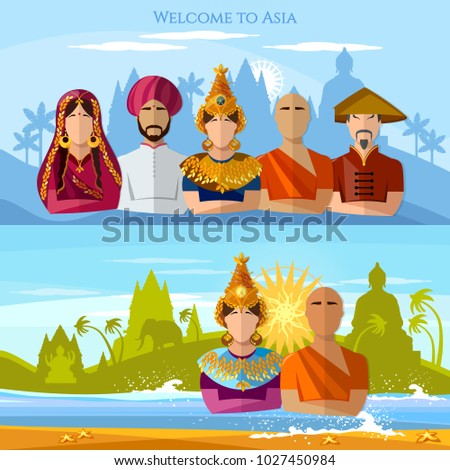 asia banner religion and