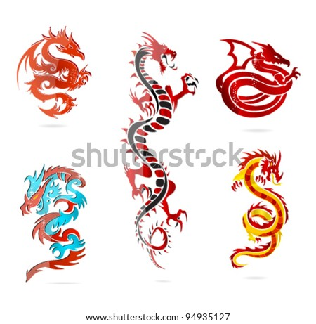 asia dragons set