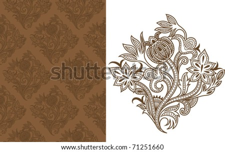 Asia Floral Pattern 5
