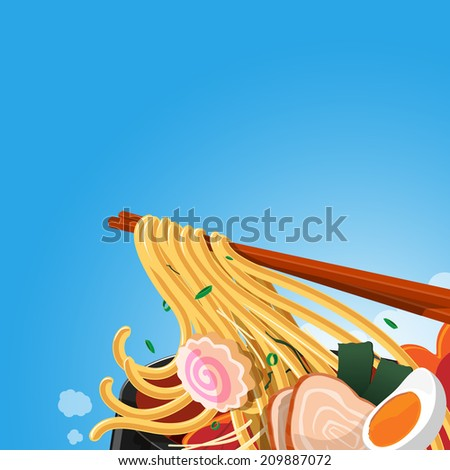 asia foods noodle   vector