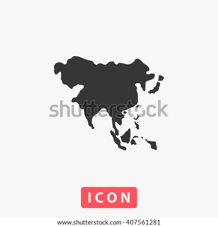 Asia Icon Vector. Simple flat symbol. Illustration pictogram