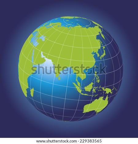 asia map australia  russia