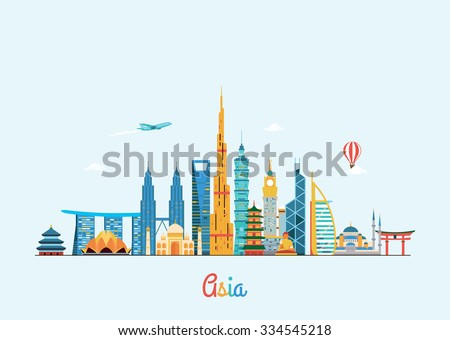 asia skyline travel and