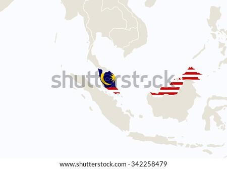 Colorful Borneo Island Map Download Free Vector Art Stock
