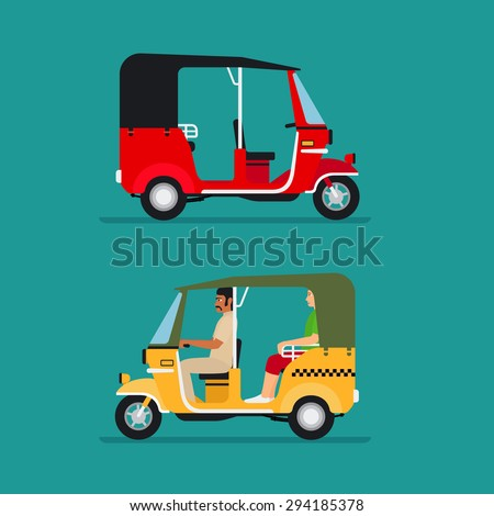 asian auto rickshaw or baby