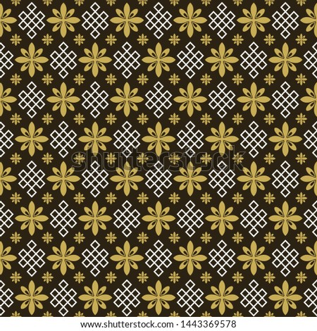 Asian background pattern. Retro pattern. Background image. Seamless wallpaper in Asian style. Vector graphics background