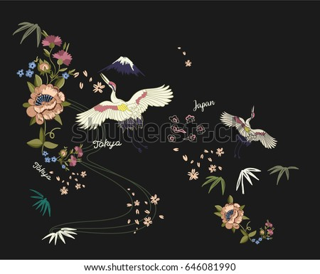 asian birds and flowers...