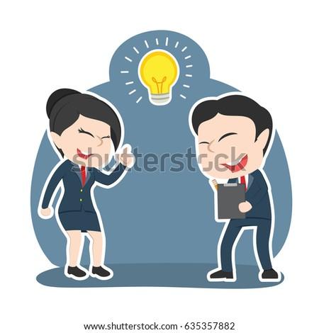 asian businesswoman got idea