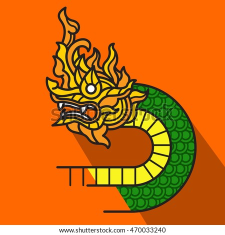 asian dragon called naga