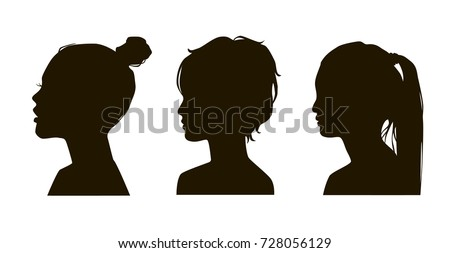 silhouette of girls hairstyles download free vector art stock