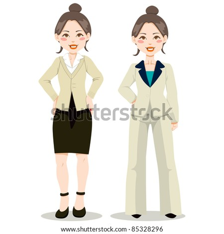Asian executive woman in fit woman suit and casual clothing style
