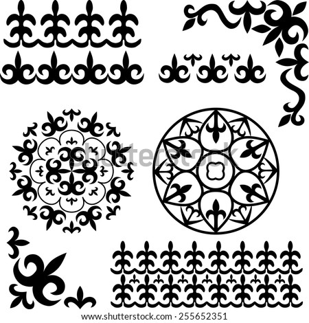 Asian Kazakh patterns