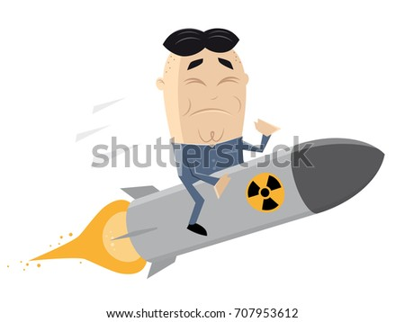 asian leader riding an atomic