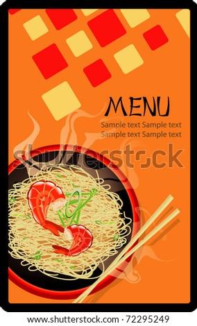 asian menu design  illustration