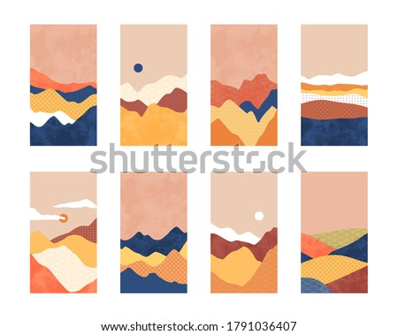 asian style mountain landscape