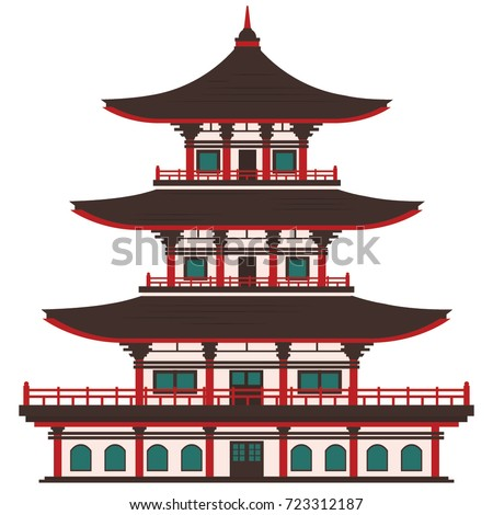 asian temple or house  japan