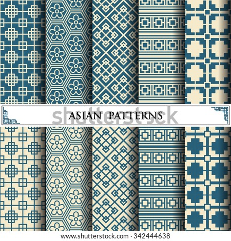 asian vector pattern pattern