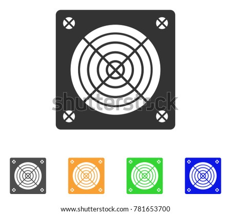 Asic Miner Hardware icon. Vector illustration style is a flat iconic asic miner hardware symbol with grey, green, blue, yellow color variants. Designed for web and software interfaces.