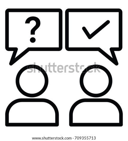 Ask Answer Vector Icon