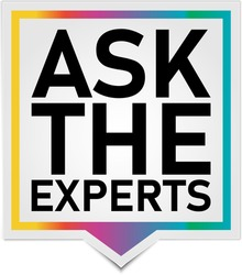 Ask The Experts Business Customers Solution Label Icon Vector