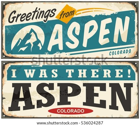 aspen colorado retro metal sign ...