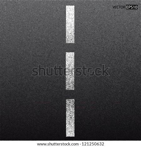 Asphalt dark texture with white line