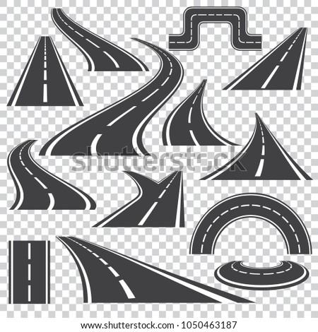 asphalt logo set in grey colors