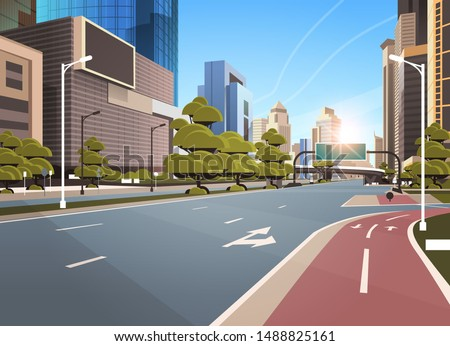 asphalt road with bike cycling