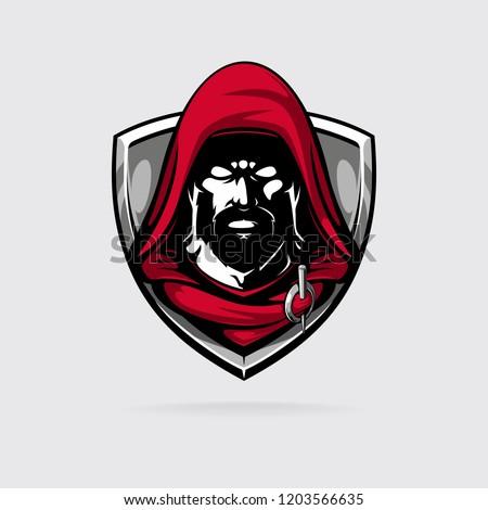 assasin in red hood logotype